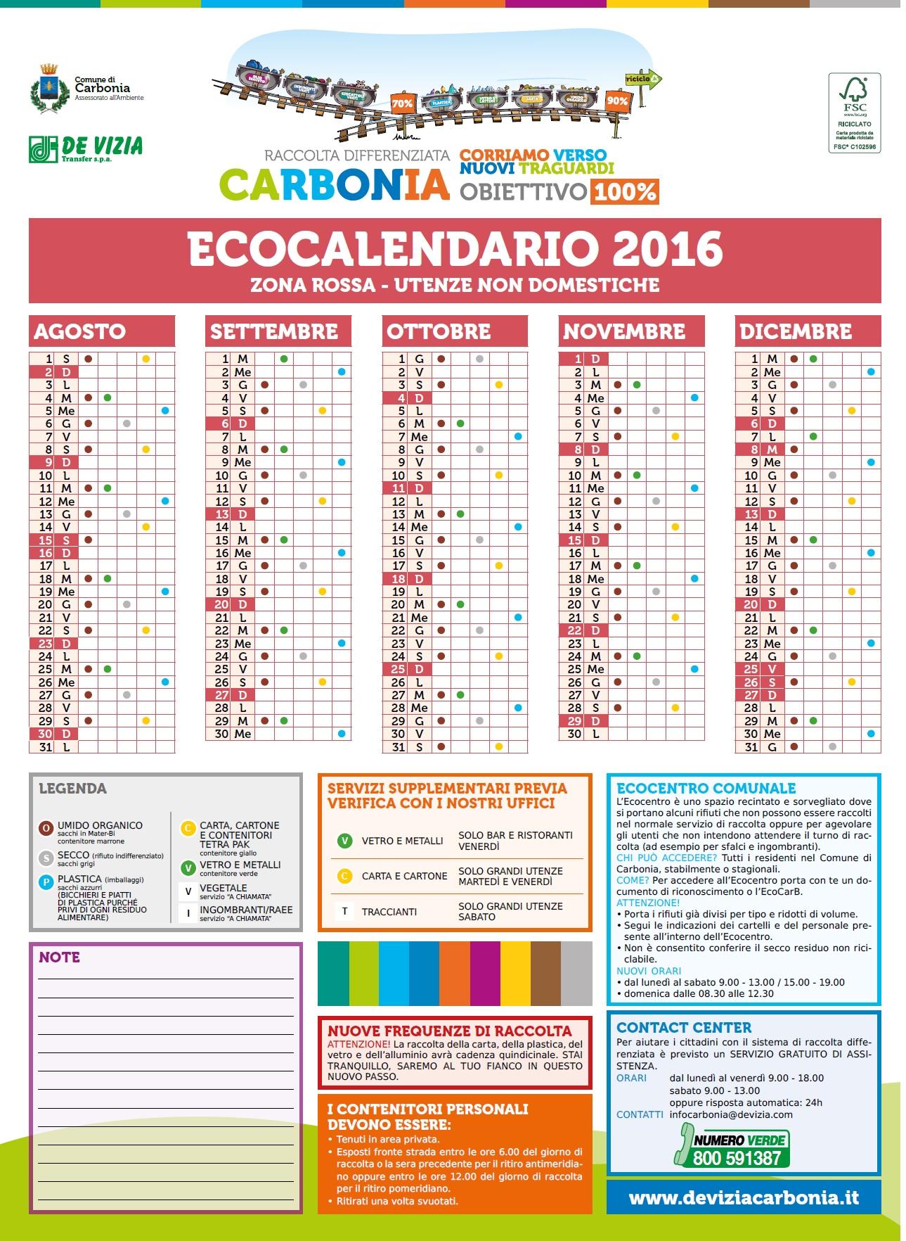 Visualizza Calendario.Calendari Servizi